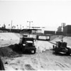 Los Feliz overpass near San Fernando Road nears completion, 1957