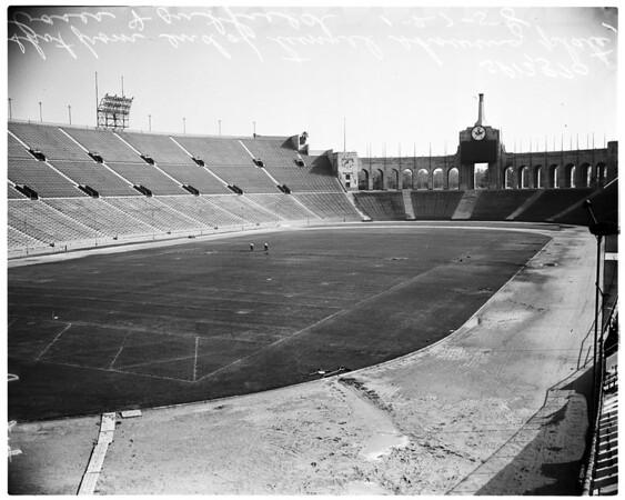 Stadiums -- Coliseum -- baseball layout, 1958