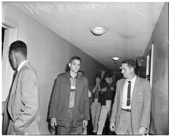 Liquor store robbery and murder, 1958