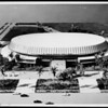 Architectural model of completed L.A. Sports Arena in Exposition Park, 1958