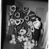 Junior League Women planning Valentine Party at Beistel Florists, 812 North La Cienega Boulevard, 1952