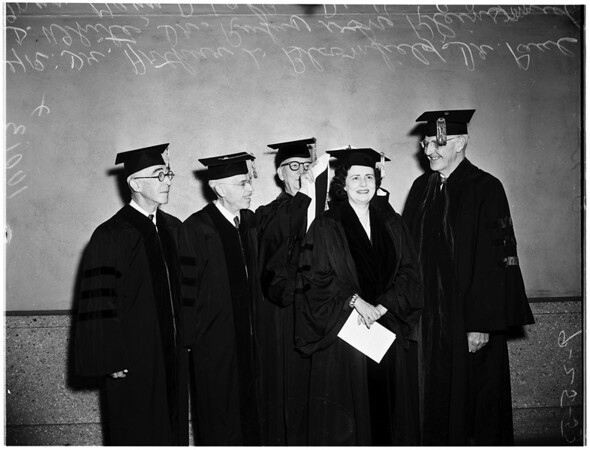 University of Southern California Medical School honorary degrees, 1953