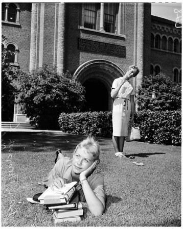 First day of school at University of Southern California, 1960