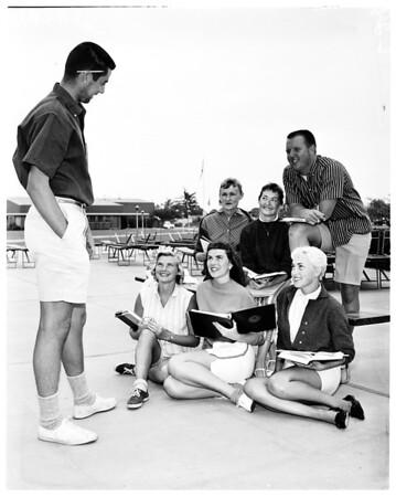 Bermuda shorts in Compton College, 1958