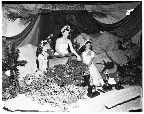 Catholic Alumni Club Queen semi-finalists reception at Beverly Hilton, 1958