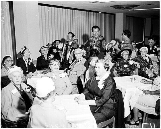 Mother's Day (Statler Hotel) mothers serenaded, 1958