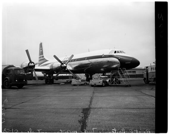 British aircraft at International Airport, 1958