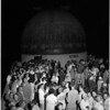 Crowds waiting to see Mars at Griffith Park Observatory, 1956