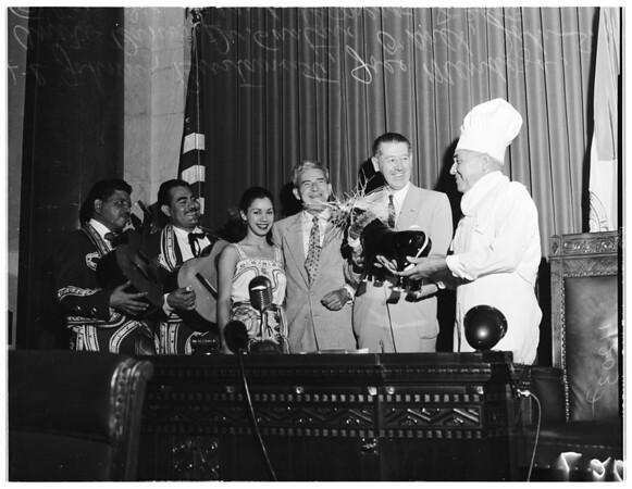 Los Angeles City birthday (City Hall), 1954