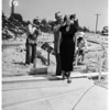 Start of construction of annex to San Pedro's Hacienda Hotel (Contest to find hostess), 1956