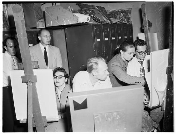 University of Southern California Art Class, 1953