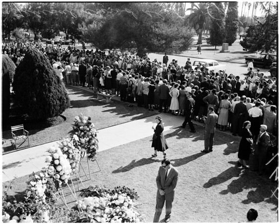 Tyrone Power's funeral, 1958