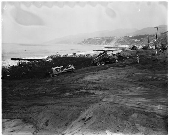 Landslide area (Santa Monica slide progress), 1958