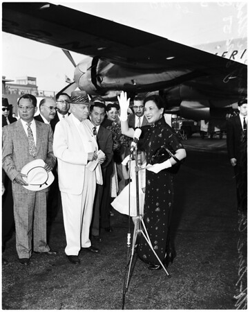 Madame Chiang arrival, 1958
