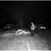 Bonfire at University of Southern California fraternity row, 1955