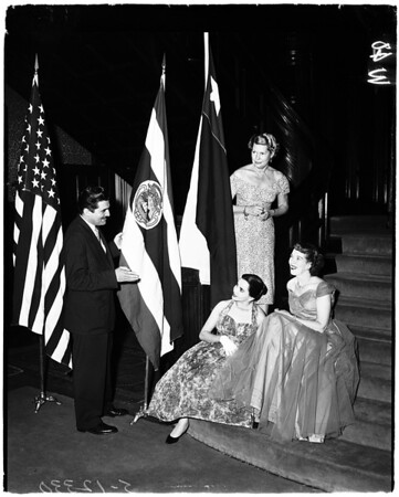 Women planning consular reception, 1958