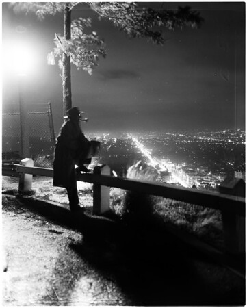 Los Angeles scenes (night lights), 1957