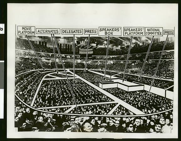 Seating arrangement for National Conventions, 1932