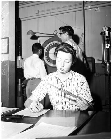 Woman aeronautical engineering student, 1958