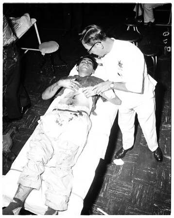 Stabbing in Judge Ambrose courtroom, 1958