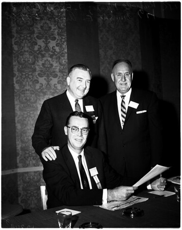 Liquor administrators at Beverly Hilton, 1958.