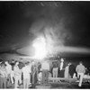 University of Southern California homecoming bonfire, 1954