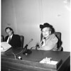 Los Angeles Transit Lines raise in fares hearing, 1953