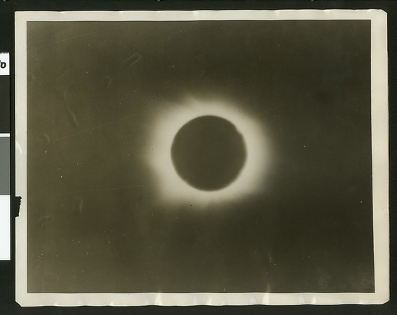 The best photograph of the sun eclipse, 1925