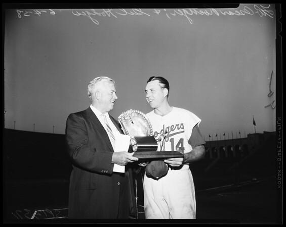 Baseball Dodgers, 1958.