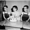 Triplets' birthday, 1958