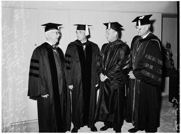 University of Southern California inauguration, 1958