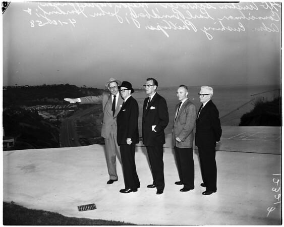 New Palisades slide inspection, 1958