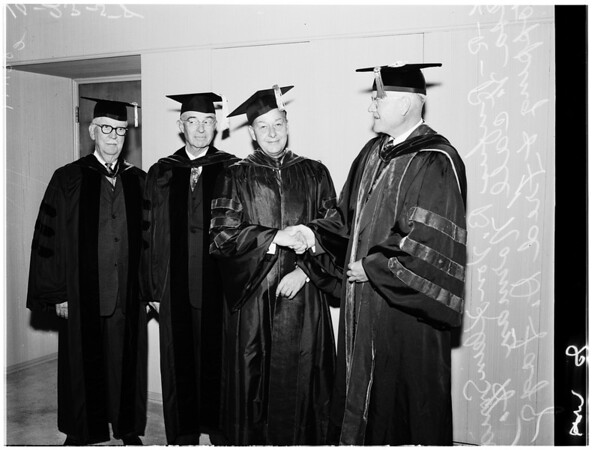 University of Southern California inauguration, 1958