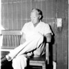 Bank robber at Burbank Police Station, 1958