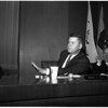 Coliseum Commission meeting on Dodgers, 1957