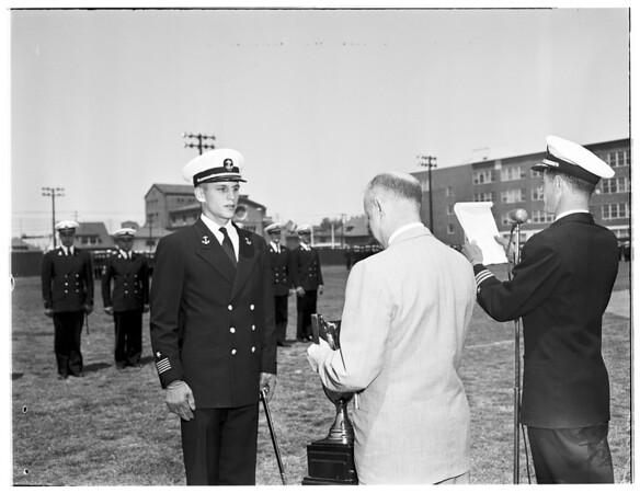 Midshipman at University of Southern California, 1953.