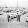 Los Angeles Harbor car import handling dock, 1958