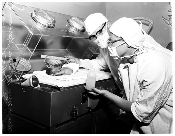 Premature baby, 1958
