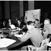Dodger hearing on Chavez Ravine, 1958
