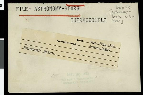 Thermocouple proper, 1930