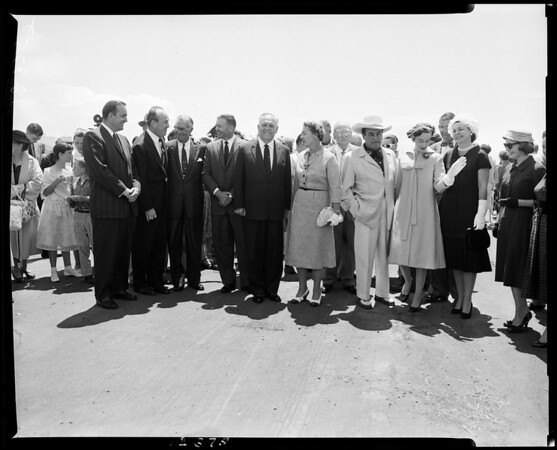Opening and dedication of San Simeon California state park, 1958