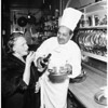 Food feature... La Rue's restaurant, 1958