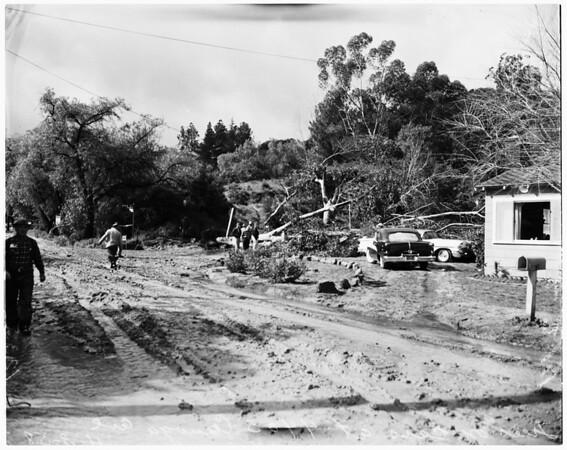 Rain and mud damage, 1958