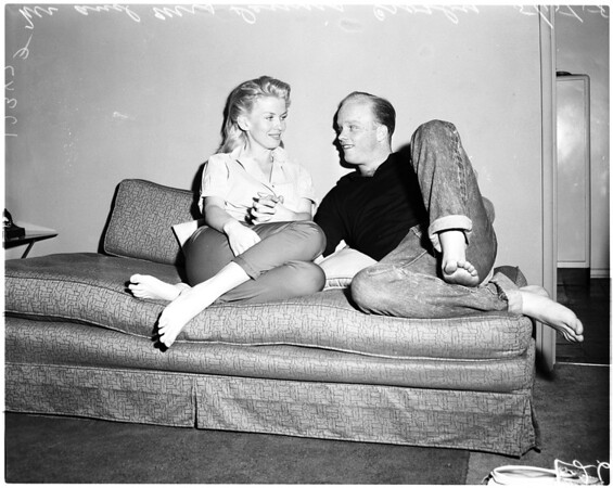 Dennis Crosby and bride Pat Sheehan, 1958