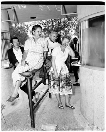Baseball ticket crowd at Coliseum (World Series), 1959