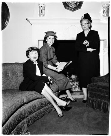 Obstreticians fashion show, 1958
