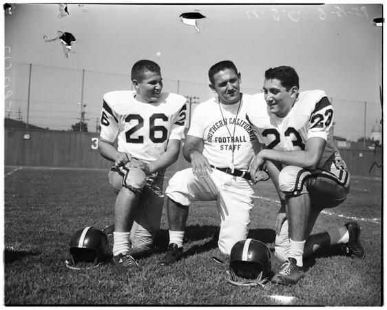 Football -- University of Southern California football camera day, 1958