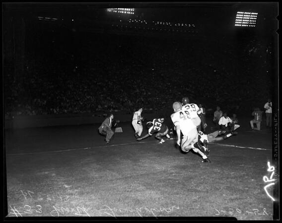 Football -- North - South Shrine Coliseum, 1958