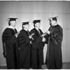 University of Southern California graduation, 1952