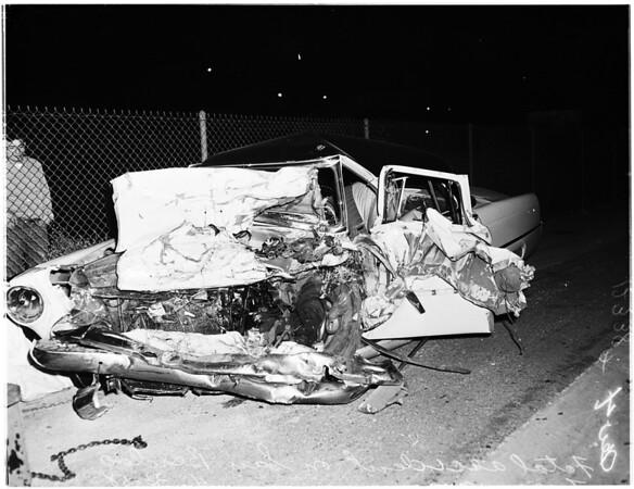 Fatal freeway accident (3 killed), 1958